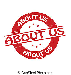 About us - Stamp with text about us inside, vector ...