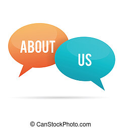 About Us Talk Bubble