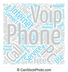 About VoIP text background word cloud concept