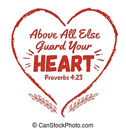 Above all else guard your heart