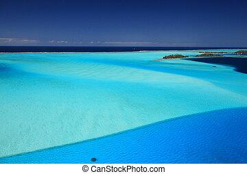 above., polinesia francesa, dreamlike, colors., laguna, bora