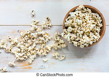 above., popcorn., bol, vue