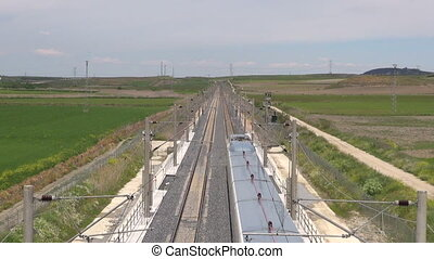 above railway