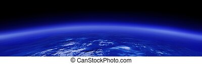 above the earth - computer generated image