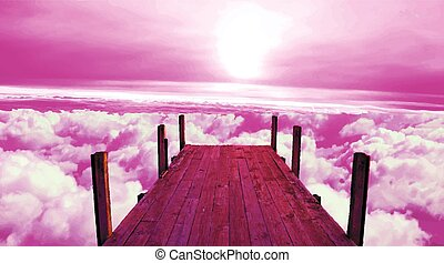 above the sky - Above the sky. Mooring. Berth of heaven. ...