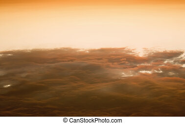 Above the sunset clouds