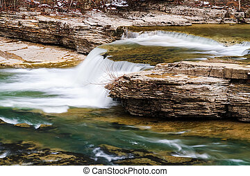 Above Upper Cataract Falls - One of several small drops...