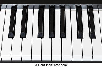 above view keyboard of digital piano