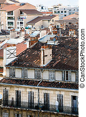 above view of apartment house in Marseilles