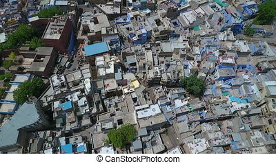 Above View of Jodhpur, Rajasthan - Drone, exterior, wide,...