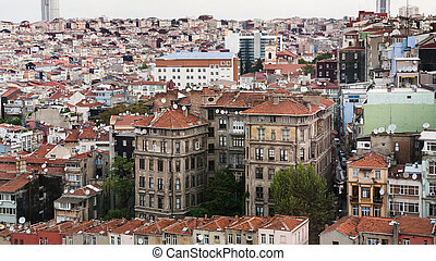 above view of residential houses in Istanbul