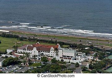 Above view to Durban coast - Seaside above view to Durban...