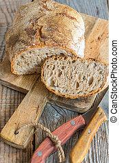 above., vue, fait maison, bread., frais