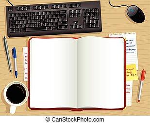 above.eps, diario, scrivania rossa