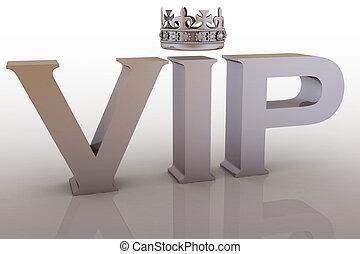 abréviation, vip, couronne
