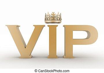 abréviation, vip, crown.
