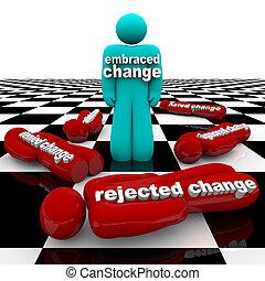 abraço, ou, mudança, rejeite