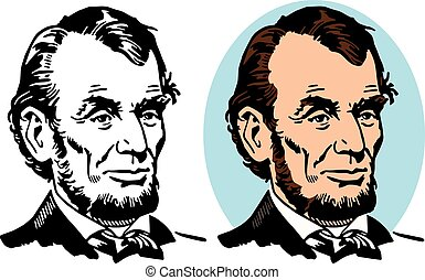 A portrait of Abe Lincoln the 16th president of the United States