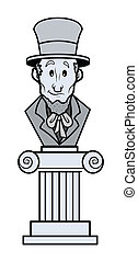 Abraham Lincoln Cartoon Sculpture