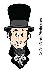 Abraham Lincoln Cartoon Character Vector Illustration