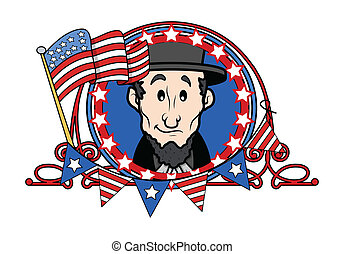 Abraham Lincoln - Cartoon Vector