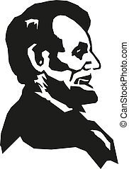 Abraham Lincoln. Hand drawn vector portrait.