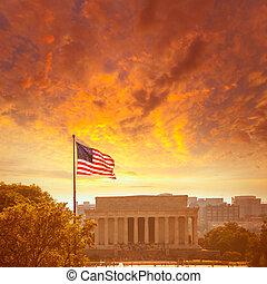 Abraham Lincoln Memorial building Washington DC - Abraham...
