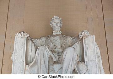 Abraham Lincoln Memorial building Washington DC US USA