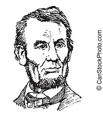 Portrait of president Lincoln