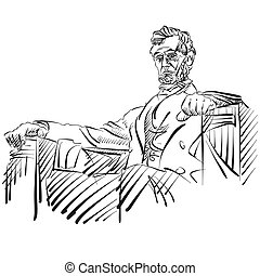 Abraham Lincoln Sketch Side View