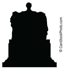 Abraham Lincoln Black Vector Silhouette Illustration