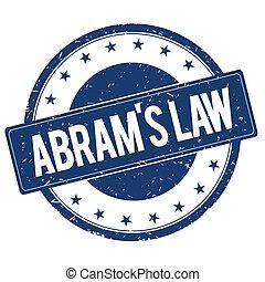 ABRAM'S LAW stamp sign