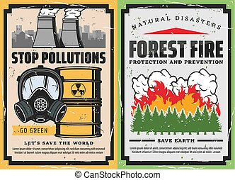 abrasador, gas, desperdicio, tóxico, árboles, máscara,...