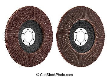 Abrasive disk for grinder isolated on white