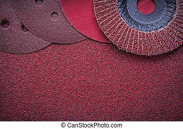 Abrasive flap wheels grinding discs on emery paper