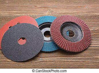 Abrasive wheels on wood