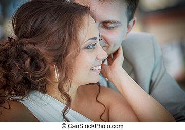 abrazo, boda