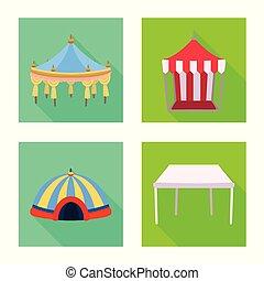 abri, symbole, web., collection, vecteur, illustration, marquise, baldaquin, logo., stockage
