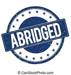 ABRIDGED stamp sign