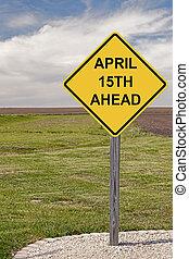 abril, adelante, 15