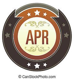 abril, botão, imperial