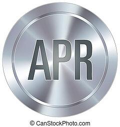 abril, botão, industrial, ícone