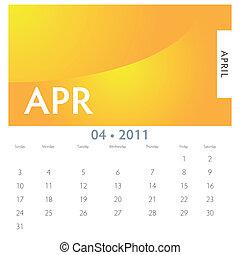 abril, calendário