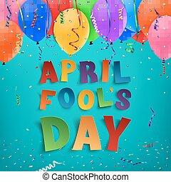 abril engaña día, fondo.