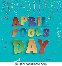 abril engaña día, plano de fondo, template.