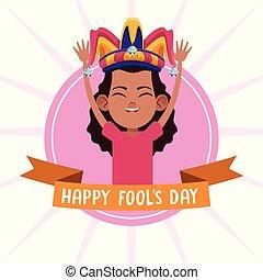 abril, fools, caricaturas, día