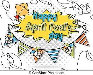 abril, fool's, dia, fundo, feliz