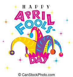 abril, fools, feliz, día