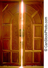 abrir la puerta, luz