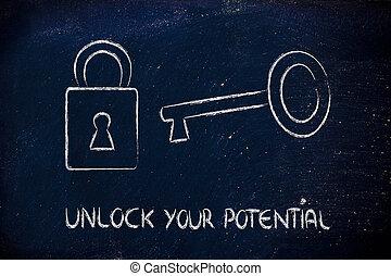 abrir, potencial, su